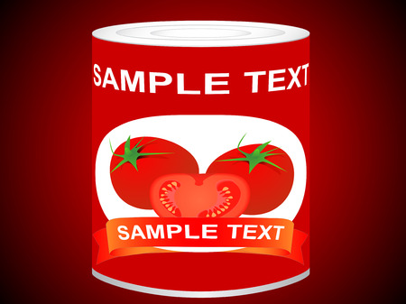 Can with tomatoes Vector