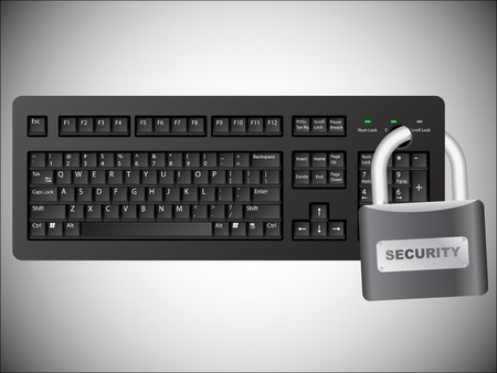 Secured keyboard Stock Vector - 6103804