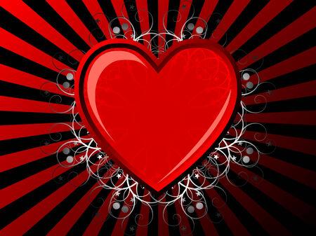 Fondo vintage con corazón