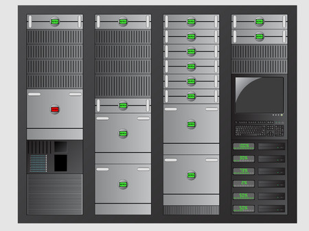 Server Stock Vector - 6123782