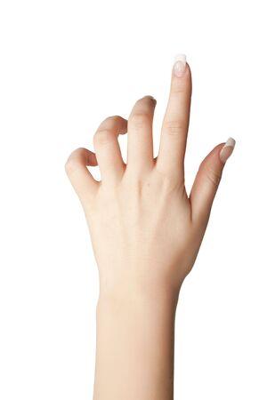 Se�alando con el dedo Foto de archivo - 6133556