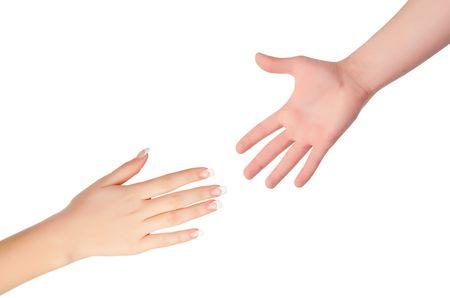 reaching hands: Bereiken van handen