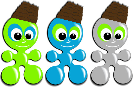 ameba: Mascota de ameba  Vectores