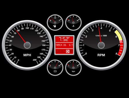 miernik: Wskaźnik prędkości Ilustracja