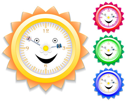 animal time: Clock for kids