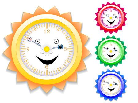 happy hours: Horloge pour les enfants