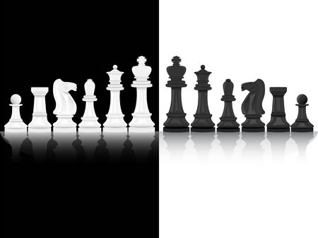 Background of black and white chesspieces