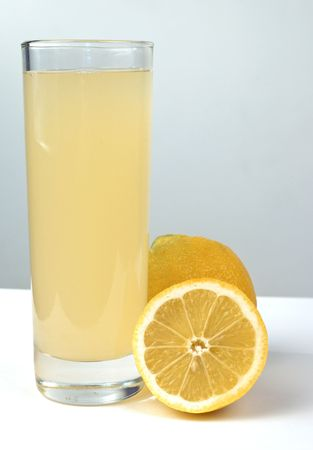 Glass of lemon juice with lemon fruit Stock Photo - 6852003
