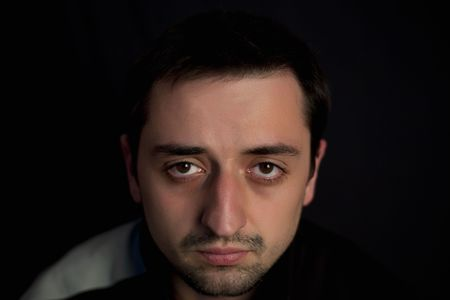 Young man on a black background Stock Photo