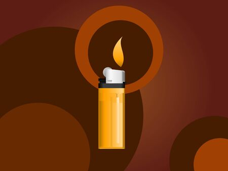 Cigarette lighter on a brown background photo