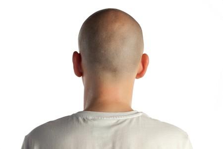 Young man posing with his back at camera Stock Photo