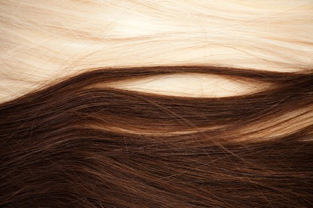 Background of brown and blond hair