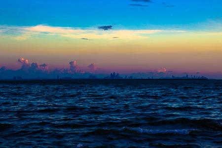 territorial: The vast territorial sea, beautiful scenery at dusk. Stock Photo