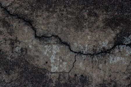 cracked cement: Roads cracked cement floor background. Stock Photo