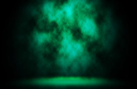 green smoke: Dark green smoke design background.