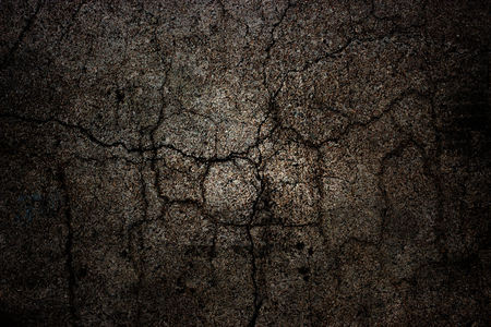 road surface: Crack cement black road surface background.