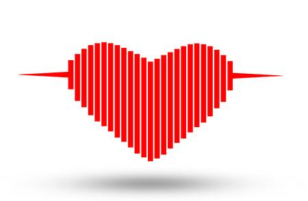 Electrocardiogram, ecg or ekg - medical icon. Stock Photo