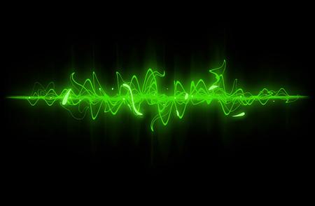 緑の音波の背景。