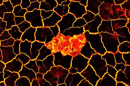 Lava ground background. Global warming.