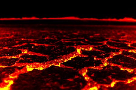 Global warming, Lava ground closeup. Stock Photo