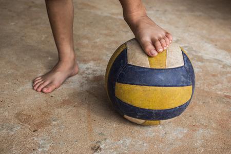 children at play: Football, children play soccer.