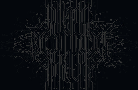 electronic background: Electronic circuits board tree graphic background.