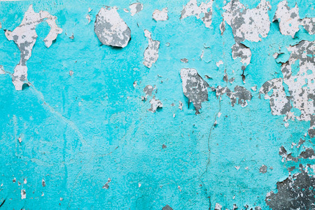 Old blue wall faded texture background. Stock Photo