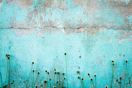 Old blue wall faded  background.