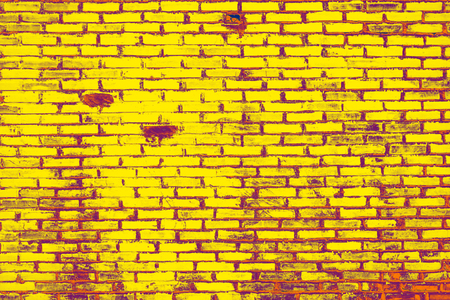 Yellow brick wall texture background, Concept vintage.