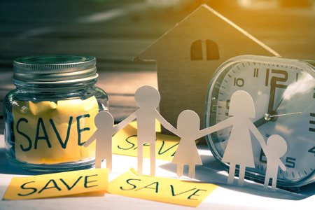 csr: Save money concept save money for the future. Stock Photo
