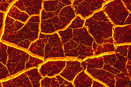 Ground is formed lava because of global warming.
