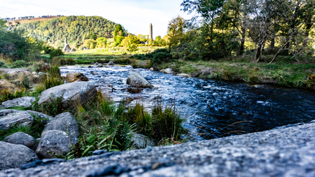 A cold and meandering stream bounds effortless amongst the cobbles and boulders to provide a rich and fresh feeling