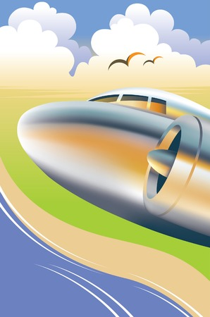 airways: Airplane, Aeroplane  Illustration