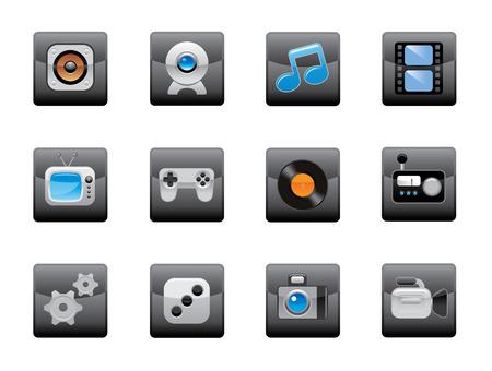 plugins: Web icons set Illustration