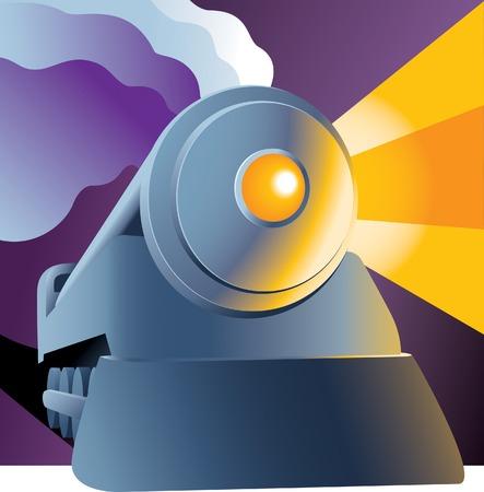 Ilustración de un tren de vapor