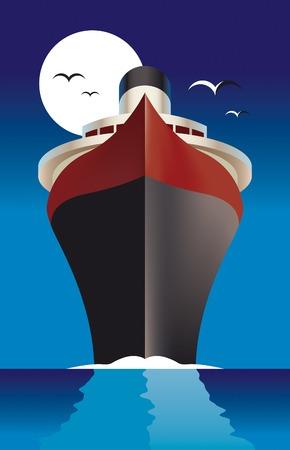 luxury travel: Crucero - Cruise liner  Vectores