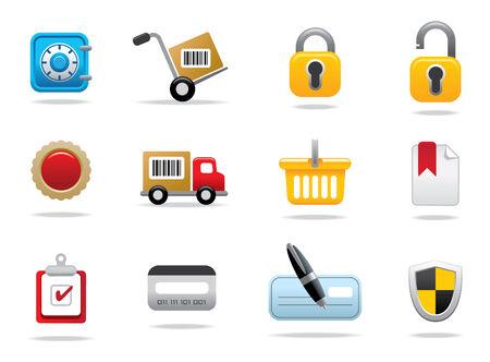 icono candado: Web iconos y s�mbolos  Vectores