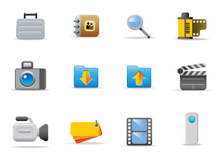 book case: Web icons and symbols