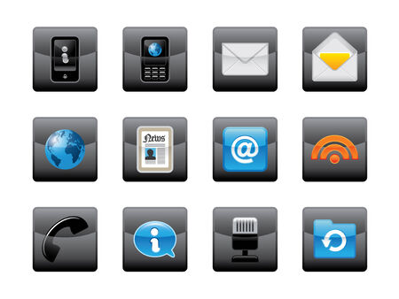 phone icon: Web icons and buttons