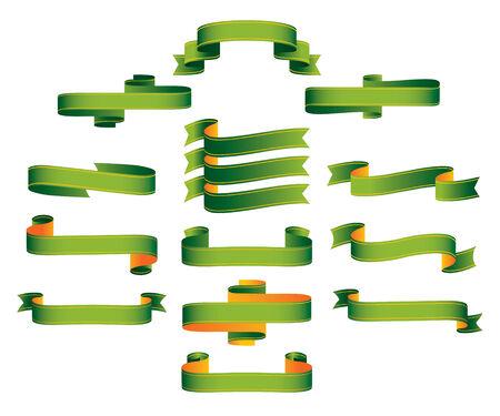g�n�alogie: Rouleaux de banni�res de rubans verts