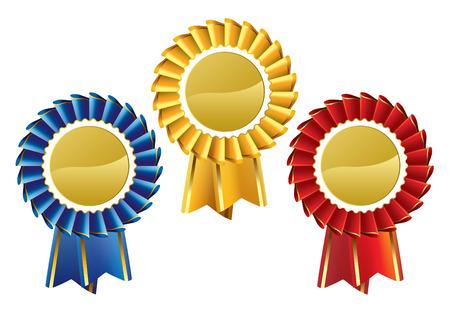 rosettes: Medallas del Premio de rosetas Vectores