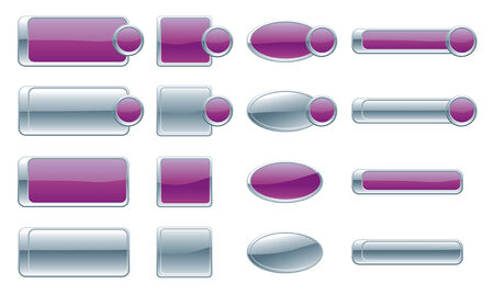 Web Buttons Banners Vector