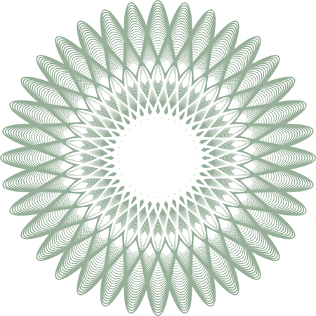 etched: guilloche rosette, watermark