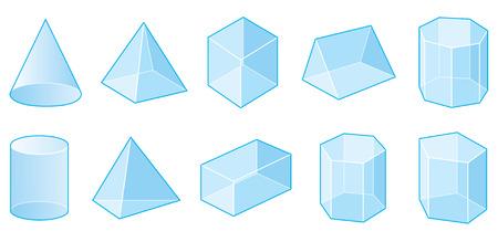 Formas 3D Ilustración de vector