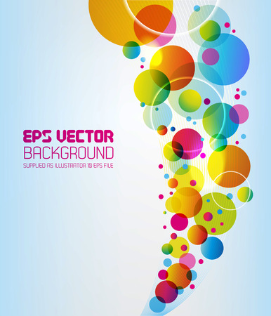 colorful design: Funky abstract background