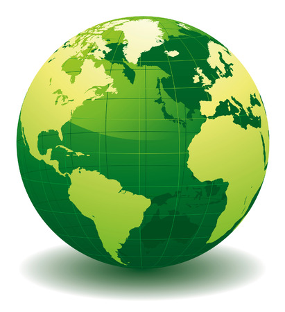 globe abstract: Green World globe