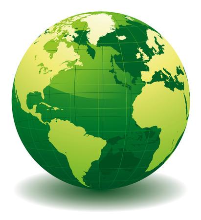 wereldbol groen: Groene wereld bol