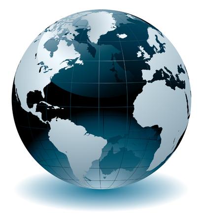 Atlas: Weltglobus  Illustration