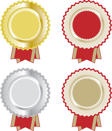 illustrations of a set of rosettes Vector
