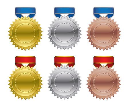Gold Silver Bronze Award Medals Stock Vector - 7577134